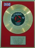 "EDDIE COCHRAN - 24 Carat Gold 7"" Disc - SUMMERTIME BLUES"